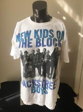 NEW KIDS ON THE BLOCK BACKSTREET BOYS TOUR 2011 WHITE MEDIUM T-SHIRT