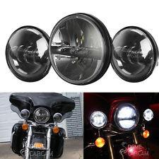 "7"" LED Daymaker Headlight + Passing Lights For 2007 2005 2003 Harley Road King"