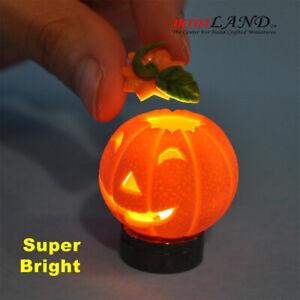 Halloween Pumpkin bright battery LED LAMP Dollhouse miniature 1:12 on/off HOP01