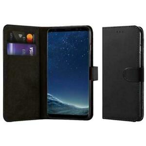 Black Wallet Flip Leather Case Magnetic Book Cover for Samsung Galaxy S7 Edge