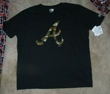 NEW MLB Atlanta Braves Baseball Camo T Shirt Men L Large -New Era-  NWT