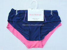 75% off! 2-PACK ISAAC MIZRAHI MICRO & LACE HIPHUGGER PANTIES LARGE BNWT US$21+