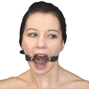 Fetisch Mundknebel mit 2 Ringe* Gag Geschirr* Bondage Erotik Toy* Mundsperre