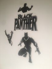Silver Black Panther Mural Vinyl Kids Wall Room Decor Removable Sticker Decal