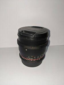 Samyang 85mm T/1.5 Cine Manual Focus Lens (for Canon EF)