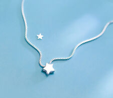 pure 925 silver lovely simple star party wedding charm neckles
