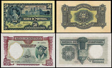 !COPY! PORTUGAL 50 ESCUDOS 1925 + 500 ESCUDOS 1942 BANKNOTES !NOT REAL!