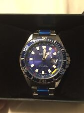 Brand New - Mens Divers Watch - Croton Aquamatic - Stainless Steel - Blue Dial