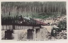 C.P.R. Imperial Limited No. 2 Tunnel FIELD BC Canada Gowen Real Photo PC 54