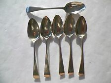 SET OF 5 WM. WITHERS 1762 STERLING SPOONS 5 1/4'' + 1 UNIDENTIFIED SPOON
