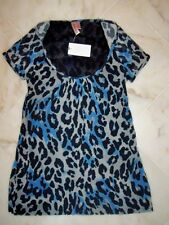 NWT Sweet Pea Stacy Frati LEAOPRD Bobcat Scoopneck Top Large