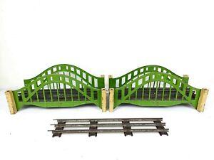 2x VINTAGE PRE-WAR LIONEL TRAIN # 101 BRIDGE STANDARD GAUGE USA LOOK READ