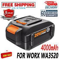 20V 4000mAh WA3525 Max Lithium Battery For Worx WA3520 WG151 WG155 WG163 WG540