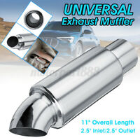 Universal 2.5'' Inlet/Outlet Round Exhaust Pipe Tip Sound Resonator Tuning AU