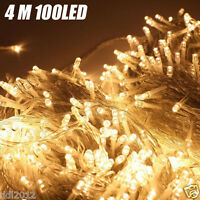 Warm White 100 LED 4M Fairy String Lights Party Wedding Christmas Tree Decor AU