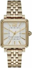 New MARC JACOBS Vic 3 Hand Gold Stainless Steel Quartz Watch MJ3462