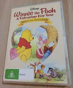 DISNEY Winnie The Pooh A Valentine For You Special Edition DVD Region 4