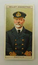 cigarette Tobacco card Wills Naval Dress & Badges 1909 # 12 Captain