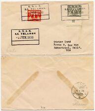 CURACAO SHIP SS TELAMON 1938 DUTCH CARIBBEAN to USA