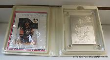 1985 Mario Lemieux .999 Silver Highland Mint Commemorative Card 951-1000