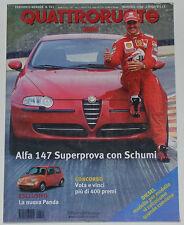 QUATTRORUOTE 11/2000 ALFA ROMEO 147 1.6 / 2.0 – NISSAN PATROL GR – VOLVO S60 T5