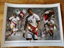 MAGNIFICENT SIGNED DELON ARMITAGE ENGLAND RUGBY PHOTO.LONDON IRISH-RARE!-SUPERB!