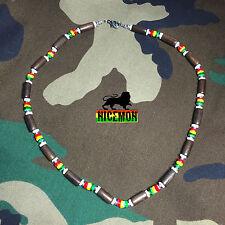 "Reggae Rasta Choker Necklace Roots Necklace Africa Selassie Rasta  Jamaica 18"""