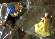 Disney Theme Parks Collector Beauty & The Beast Miniature Figures 2pc Hasbro New