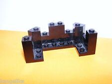 Lego--6066--Burgzinne--Schwarz--4 x 8 x 2 1/3 --Ersatzteil--Wolfsburg--