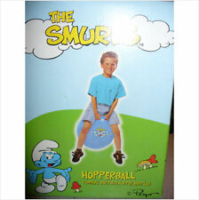 THE SMURFS BLUE BOUNCER HOPPER JUMP BALL W/ HANDLE~CHILD~NEW~INDOOR/OUTDOOR