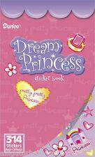 314 Stickers Pretty Princess Sticker Book 6 Sheets! Kids Girls Darice ABCraft