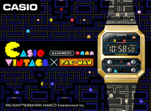 Casio Watch A100WEPC Pac-Man Collaboration Model from Japan Brand New