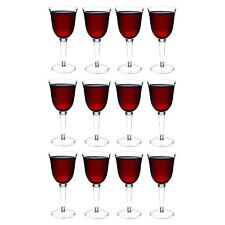 Plastic Wine Glasses Red White Outdoor Dining Strong Drinking Cups X12