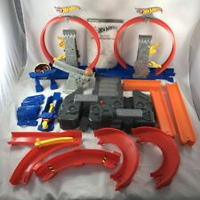 Hot Wheels Track Builder Total Turbo Takeover Set 2014 Mattel Loops Instructions