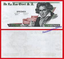 ITALY DE LA RUE SPECIMEN TEST Note Beethoven  SC  /   UNC