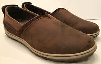 MERRELL Ashland Coffee Bean Brown Leather Slip-On SHOES Flats Loafers Mocs Sz 7