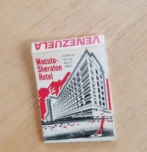 Vintage Matchbook Sheraton Hotel Venezuela Macuto Opens Early April 1963 rare