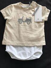 Bellybutton (Germany) NWT Organic Cotton Tan Shirt/ Bubble - Newborn