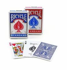 2 Bicycle Poker Size Standard Index Playing Cards (Red and Blue)