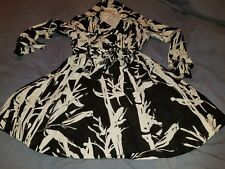 Vintage Walter Baker art deco tie button black and off white dress jacket size 0