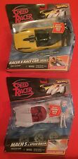 RARE Hot Wheels Speed Racer Shooting Cars w/ Posable Figures: Racer X & Speed!
