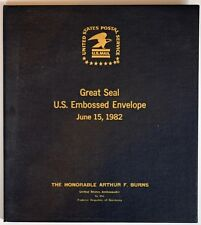 Great Seal of the United States FDCs given to Fed Chairman Arthur Burns