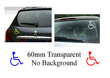 Disable disabilality Vinyl Sticker transparent no background 60mm diameter cars