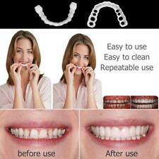 1pair Silicone Teeth False Tooth Cover Whitening Denture Perfect Smile Oral Care