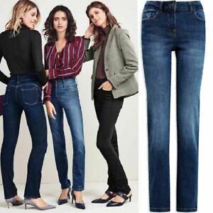 Ladies Jeans Next Womens Sand Wash Denim Spandex Jeans Trouser Size 8 - 16