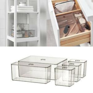 Ikea GODMORGON Box w/ Compartments Storage Jewellery Makeup Organiser Box Smoke