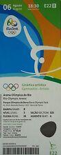 TICKET 6.8.2016 OLYMPIA RIO Gymnastic artistic # e22