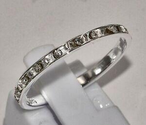 Sterling Silber 925 Ring filigran schmal dezent zierlich feminin mit Zirkonias