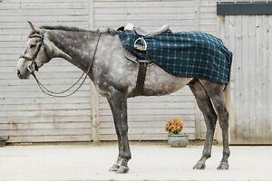 New Dark Horse Classic Tartan Fleece Exercise Sheet Winter Riding Horse