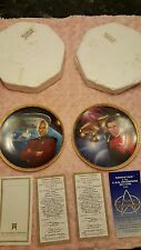 Star Trek Captain Kirk and Picard Power of Command 2 Plate Collection Hamilton